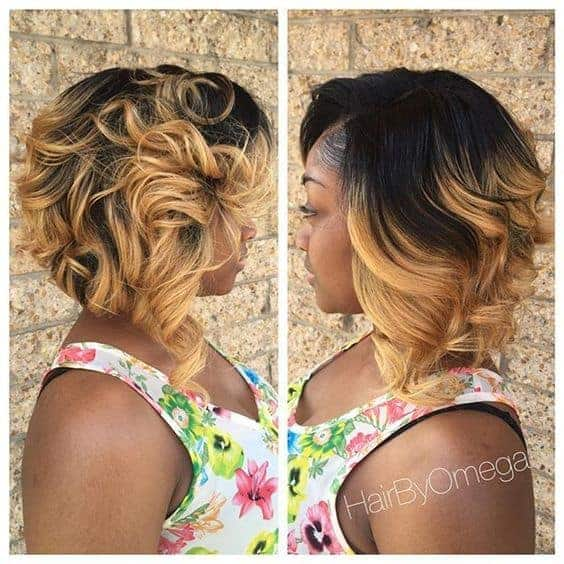 Ombre loose curls
