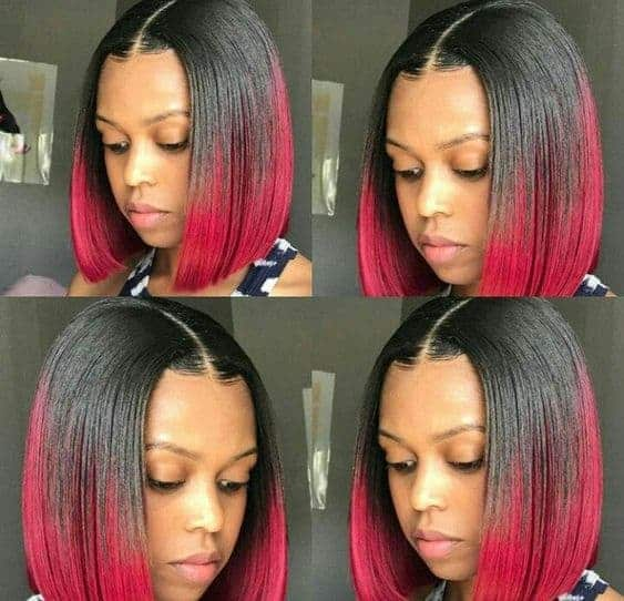 Red and black bob