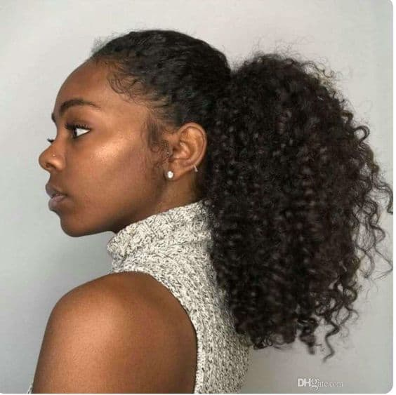 Short puff afro kinky ponytail