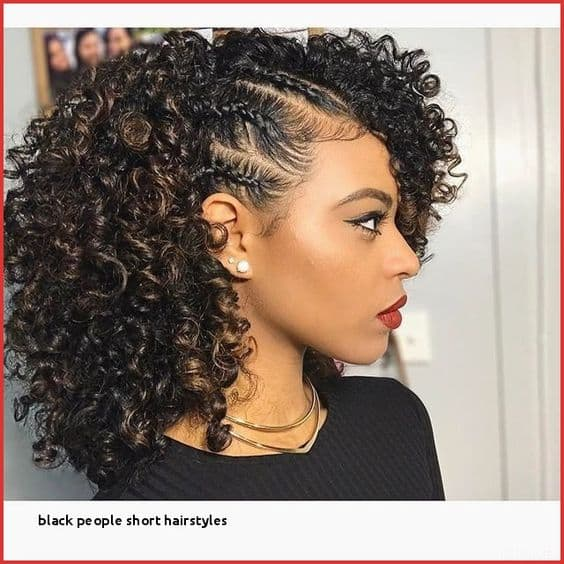 side braided quick weave with curls