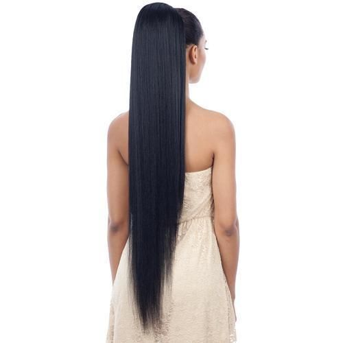straight ponytail- long straight and sleek hair