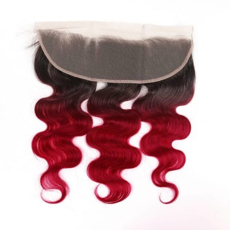 1b red Body Wave 13x4 lace frontal2