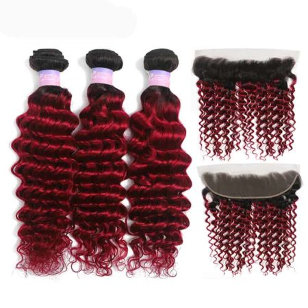 1b red deep wave 3 bundles with frontal1