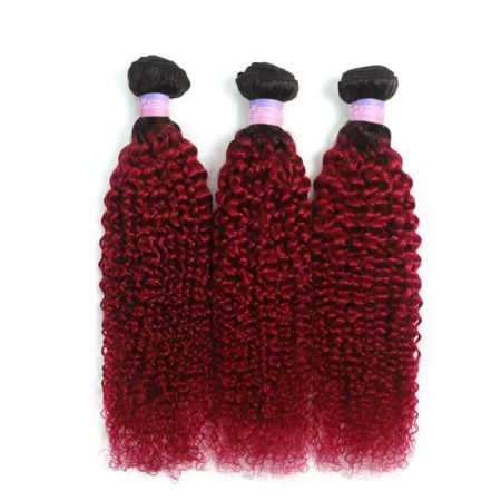 1b red kinky curly 3bundles1