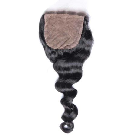 4x4 Silk Base Closure indian Loose Wave