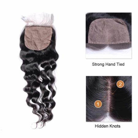 4x4 peruvian Silk Base Closure Loose Wave