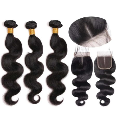 Brazilian 3 Bundles Body Wave With Closure2