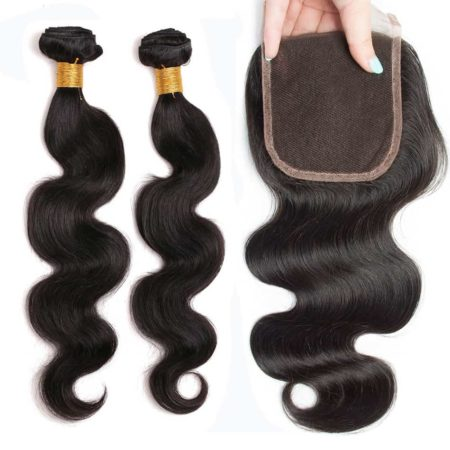 Brazilian Body Wave 2 Bundles With Closure