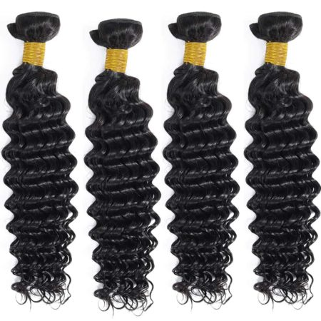 Brazilian bundles deep wave hair with closure2
