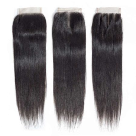 Brazilian bundles straight hair with closure2