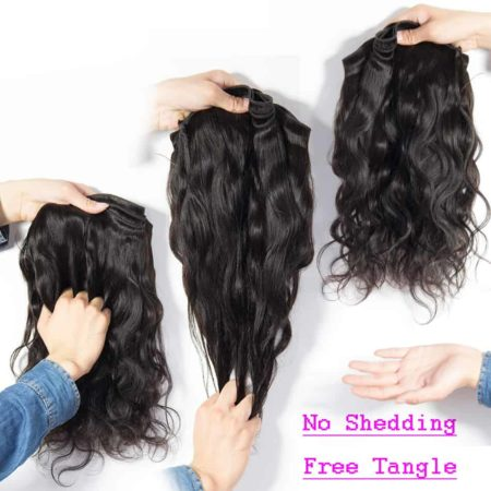 Brazilian hair Body wave 5 bundles with closure10