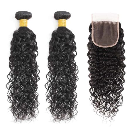 Brazilian water wave 2 bundles with closure