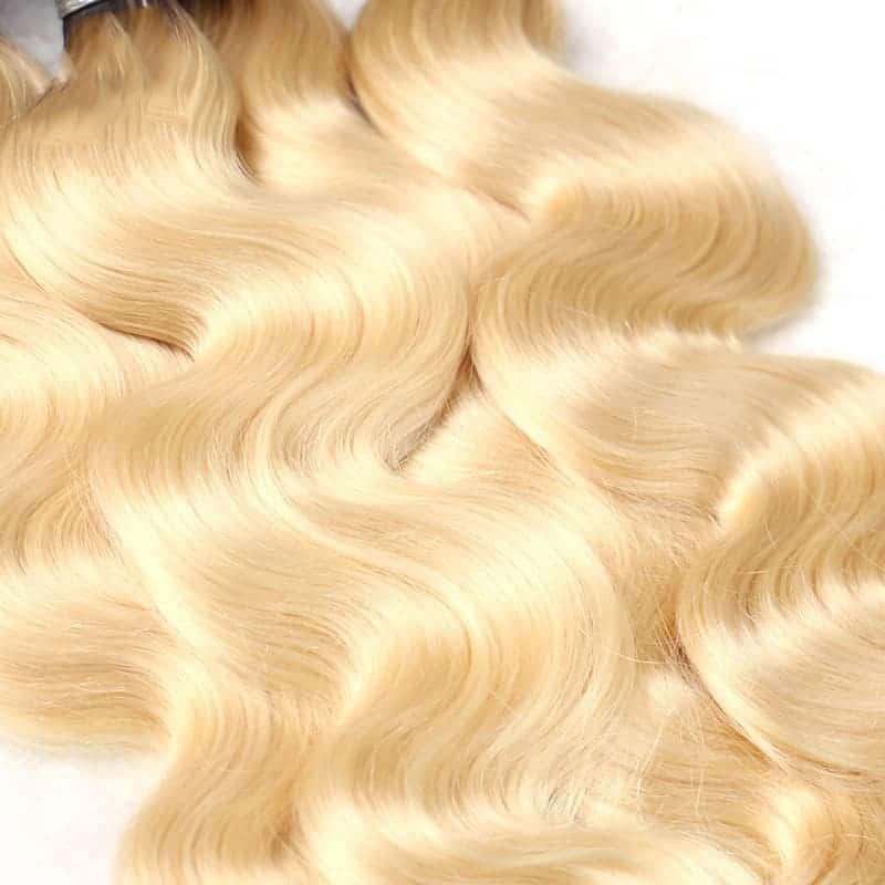 black and blonde ombre weave body wave 3 bundles with frontal8