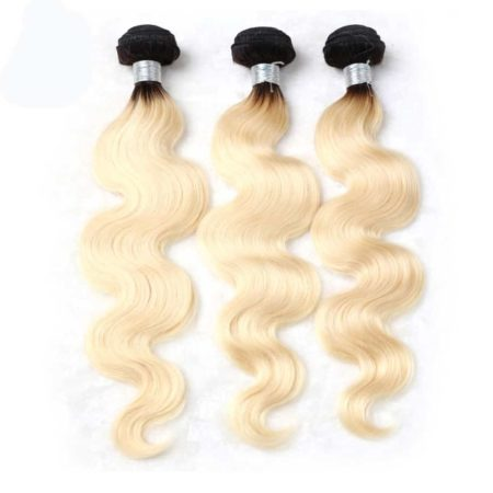 black and blonde ombre weave body wave 3 bundles1
