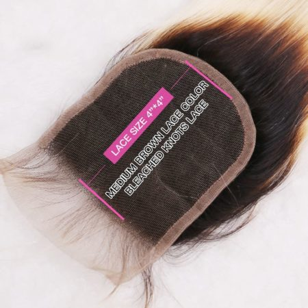 black and blonde ombre weave straight hair 3 bundles with closure10