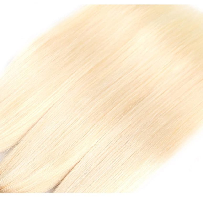 black and blonde ombre weave straight hair 4 bundles with frontal6