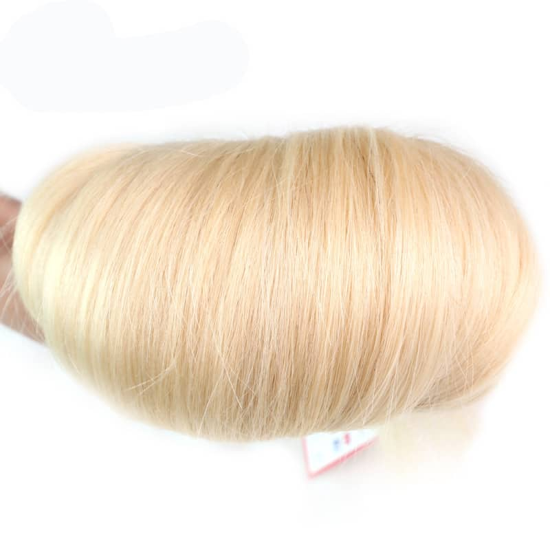 black and blonde ombre weave straight hair 4 bundles with frontal8