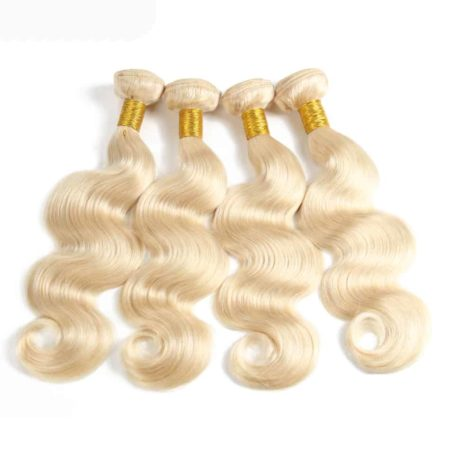blonde hair body wave 4 bundles1