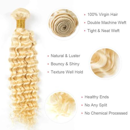 blonde hair deep wave 3 bundles2