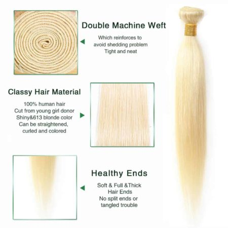 blonde hair straight 1 bundle2