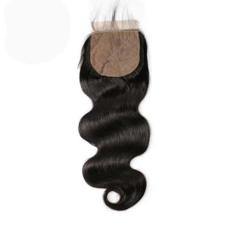 body wave indian silk closure hair