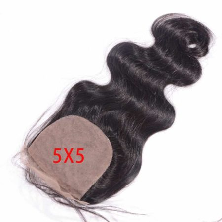 brazilian 5x5 silk closure body wave