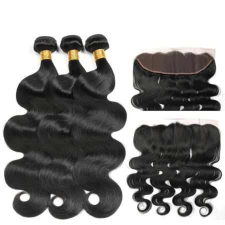 brazilian body wave 3 bundles with frontal