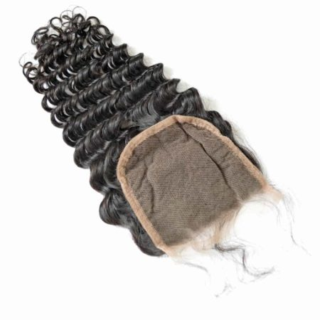 deep wave silk closure brazilian hair