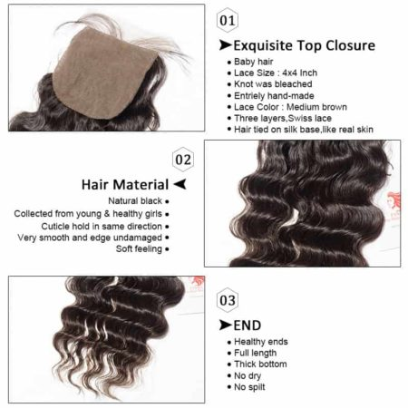 deep wave silk closure hair2