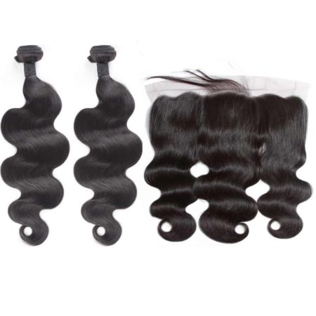 indian body wave 2 bundles with frontal