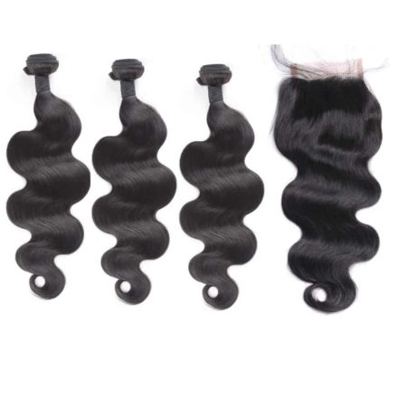 indian body wave 3 bundles with closure