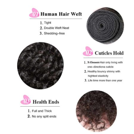 indian hair kinky curly bundles2