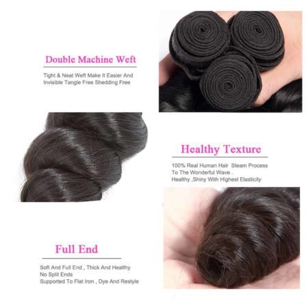 indian hair loose wave bundles des1