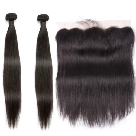 indian straight hair 2 bundles with frontal
