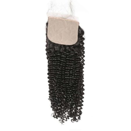 kinky curly indian silk closure hair