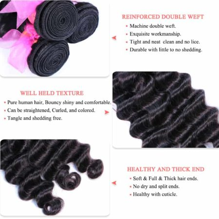 loose deep wave peruvian hair bundles des1