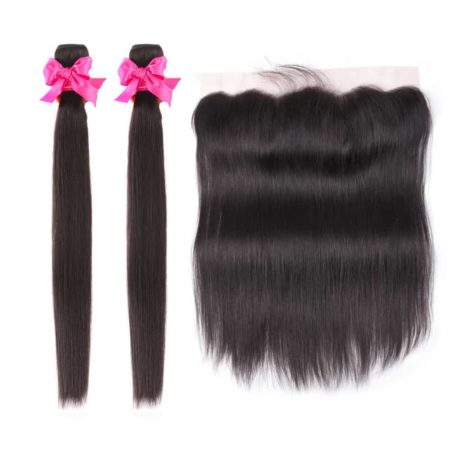 malaysian straight hair 2 bundles with frontal