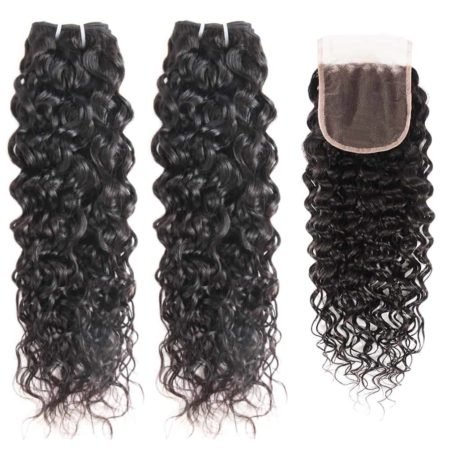 malaysian water wave 2 bundles with closure
