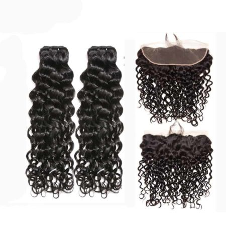 malaysian wet and wavy hair 2 bundles with frontal