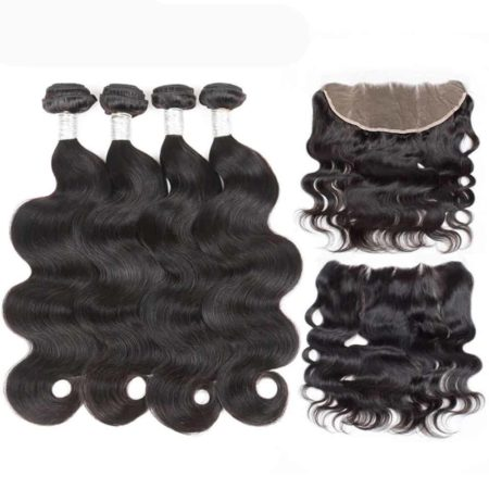 peruvian body wave 4 bundles with frontal
