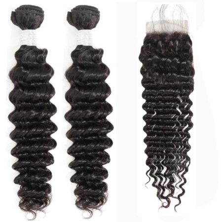 peruvian deep wave hair 2 bundles with closure