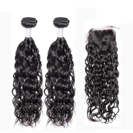 peruvian water wave 2 bundles with closure