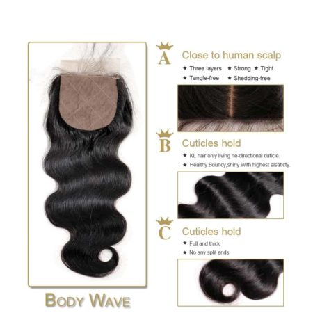 silk body wave closure hair1