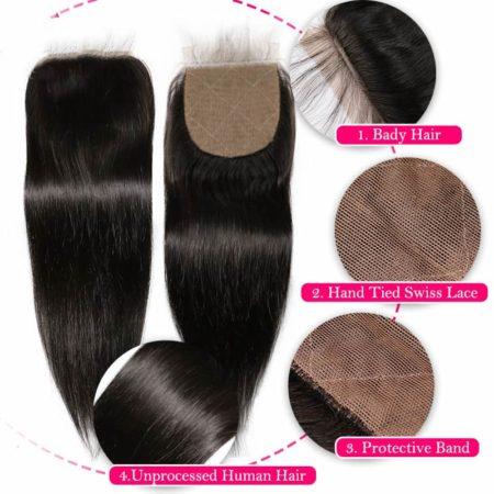 straight silk closure hair2