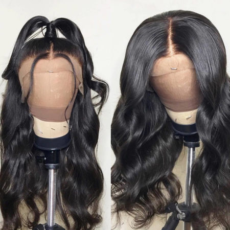 Burmese hair 13x4 body wave wig