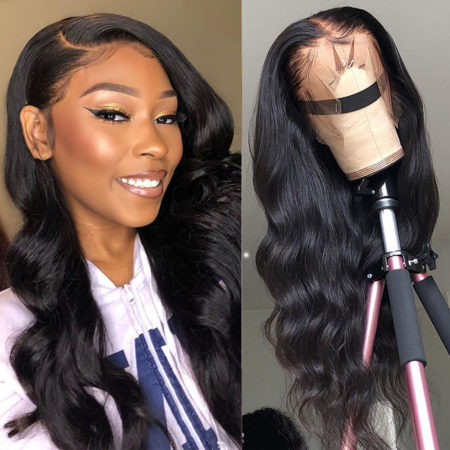 Burmese hair 13x6 body wave wig