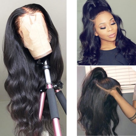 Burmese hair 360 lace body wave wig