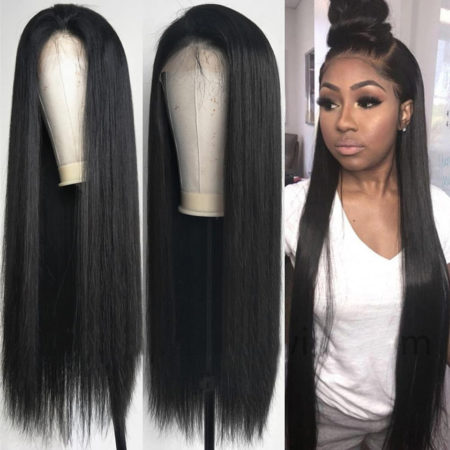 Burmese hair 360 lace straight wig