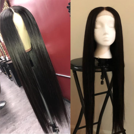 Burmese hair 4x4 straight wig