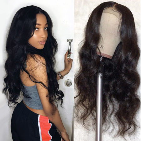 Burmese hair full lace body wave wig